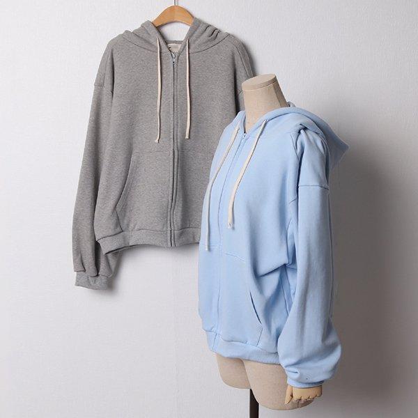 102 무지오버핏숏후드집업 DGYB913 도매 배송대행 미시옷 임부복