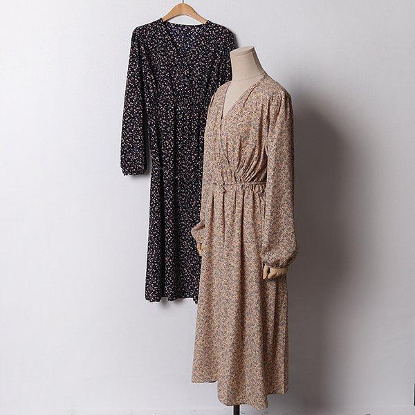 102 잔꽃밴딩셔링랩원피스 DDLB926 도매 배송대행 미시옷 임부복