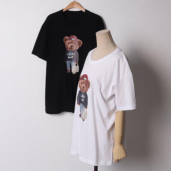 102 큐티베어라운드롱반팔 DNNB946 도매 배송대행 미시옷 임부복