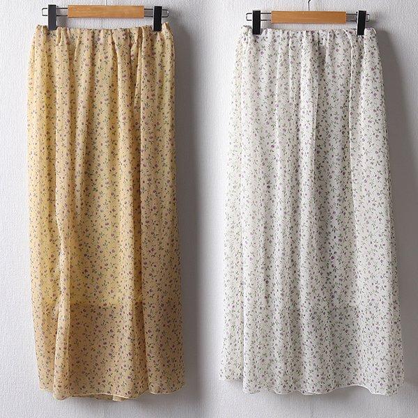 102 잔플라워주름롱스커트 DMOB952 도매 배송대행 미시옷 임부복
