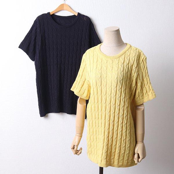 103 꽈배기짜임니트반팔티 DEBD160 도매 배송대행 미시옷 임부복