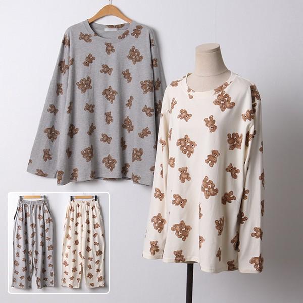 103 곰돌이와이드순면세트 DLYD191 도매 배송대행 미시옷 임부복