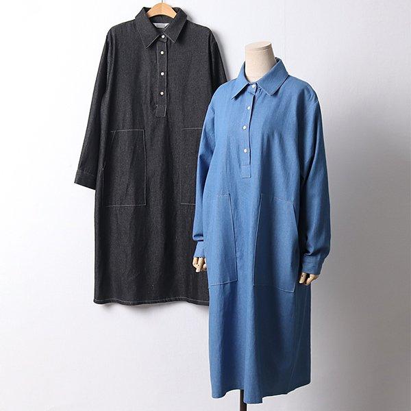 103 빈티지포켓데님원피스 DLYD195 도매 배송대행 미시옷 임부복