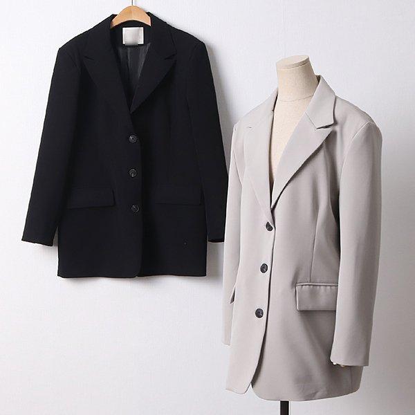 104 쓰리버튼싱글오버자켓 DBRD202 도매 배송대행 미시옷 임부복