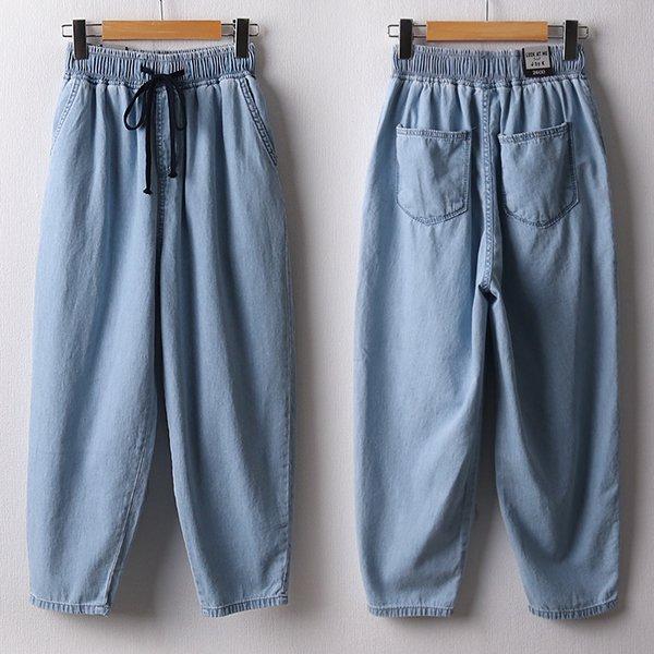 104 블루배기핏스트링팬츠 DLOD228 도매 배송대행 미시옷 임부복