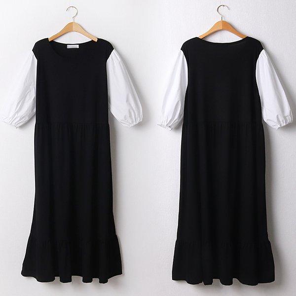 104 빅토리퍼프소매원피스 DBED232 도매 배송대행 미시옷 임부복
