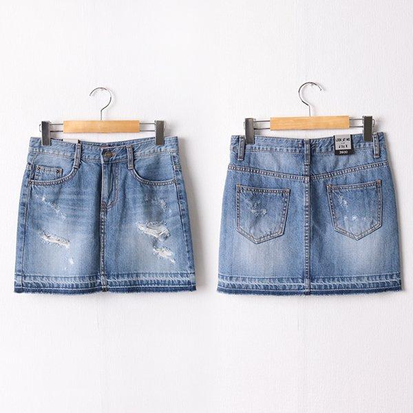 104 데미지컷팅미니스커트 DLOD261 도매 배송대행 미시옷 임부복