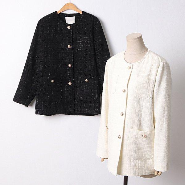 104 시나몬버튼트위드자켓 DBRD301 도매 배송대행 미시옷 임부복