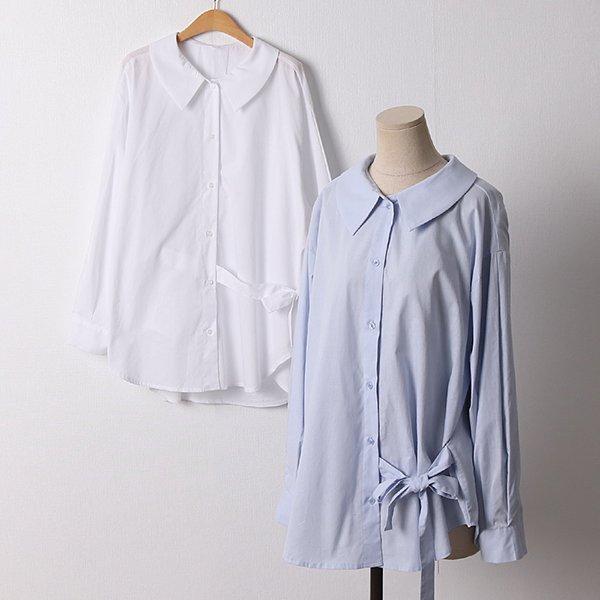 104 사이드리본랩블라우스 DLTD352 도매 배송대행 미시옷 임부복