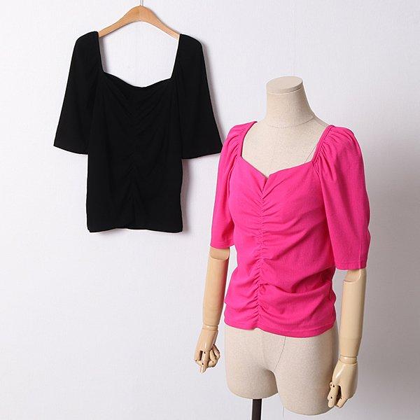 104 젤리스퀘어주름반팔티 DYPD363 도매 배송대행 미시옷 임부복
