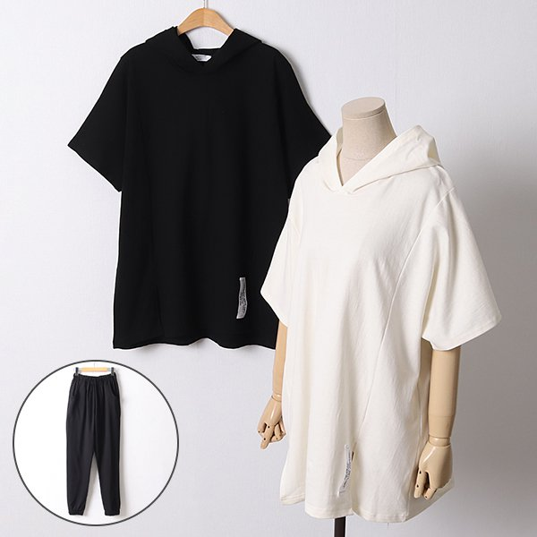 104 무지후드트레이닝세트 DBED370 도매 배송대행 미시옷 임부복