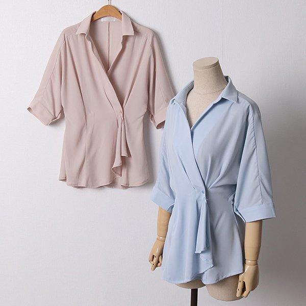 104 리버루즈핏랩블라우스 DLTD371 도매 배송대행 미시옷 임부복