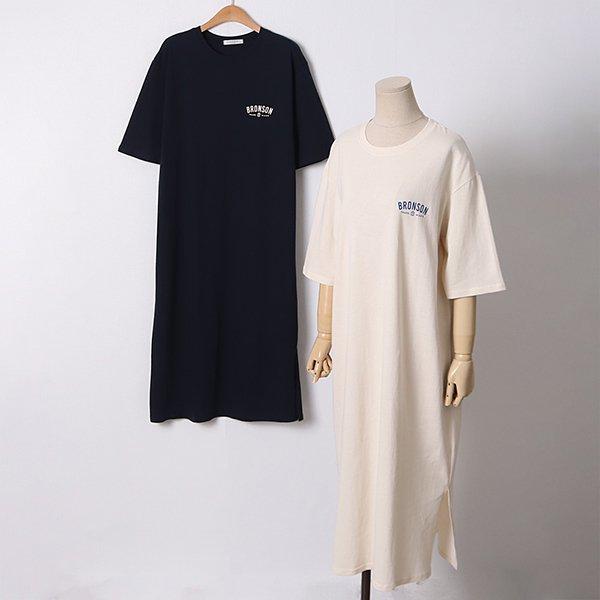 104 데일리레터링롱원피스 DLYD375 도매 배송대행 미시옷 임부복