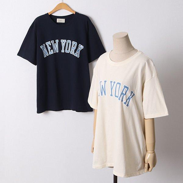 104 뉴욕프린팅오버핏반팔 DGYD386 도매 배송대행 미시옷 임부복