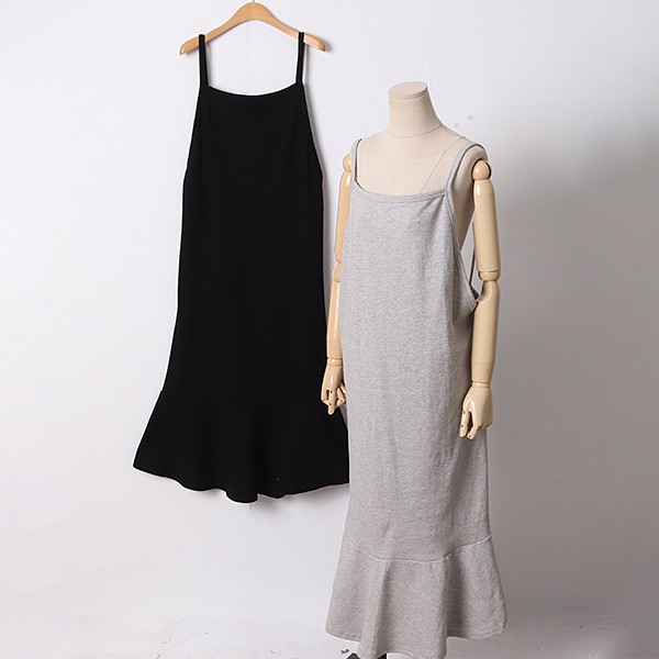 104 무지머메이드롱원피스 DRAD387 도매 배송대행 미시옷 임부복