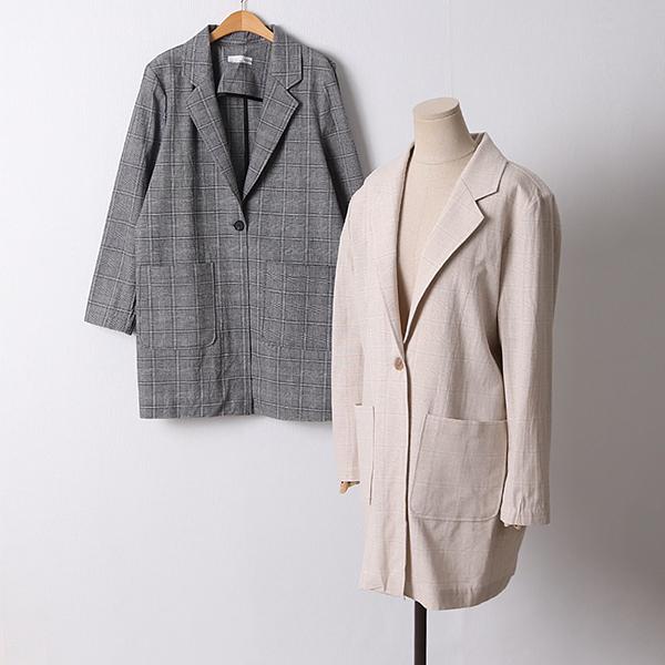 105 바닐라린넨오버핏자켓 DIRD472 도매 배송대행 미시옷 임부복