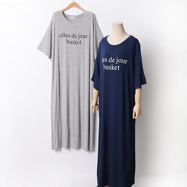 105 소프트레터링롱원피스 DRAD518 도매 배송대행 미시옷 임부복