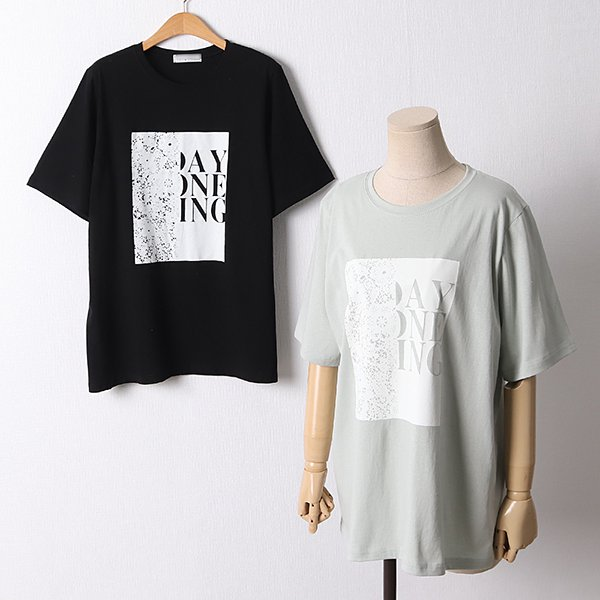 106 하트나염오버핏반팔티 DYPD542 도매 배송대행 미시옷 임부복