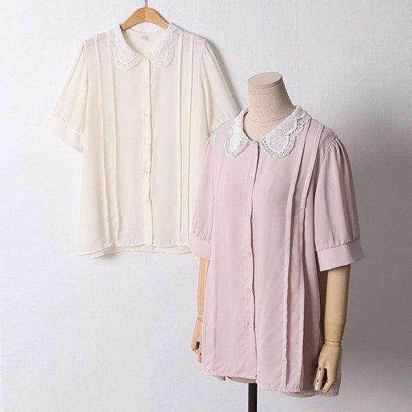 106 허밍레이스넥블라우스 DLTD546 도매 배송대행 미시옷 임부복