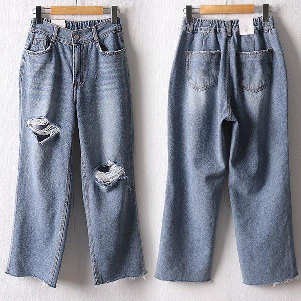 106 타운워싱컷팅부츠팬츠 DDOD556 도매 배송대행 미시옷 임부복