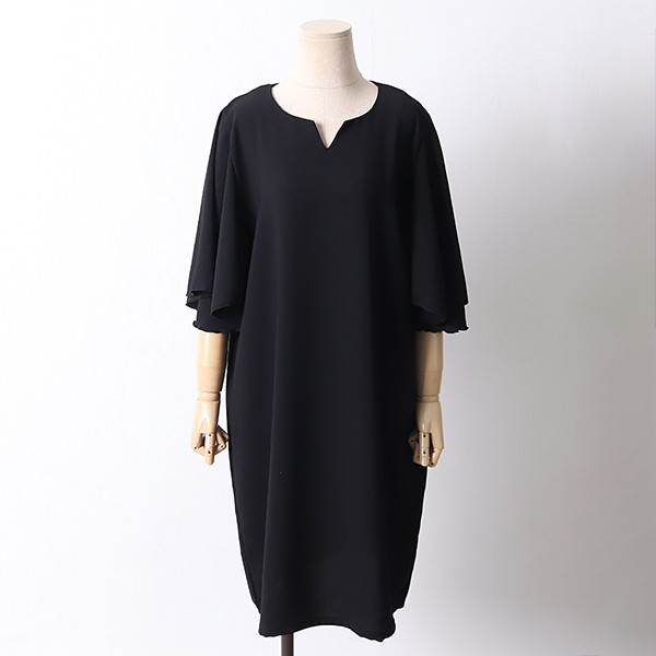 106 쉬즈소매날개롱원피스 DBED561 도매 배송대행 미시옷 임부복