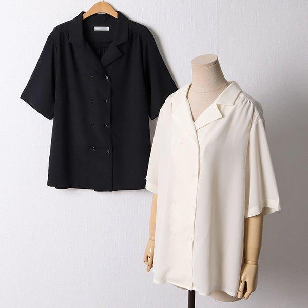 106 언더더블버튼블라우스 DLTD562 도매 배송대행 미시옷 임부복