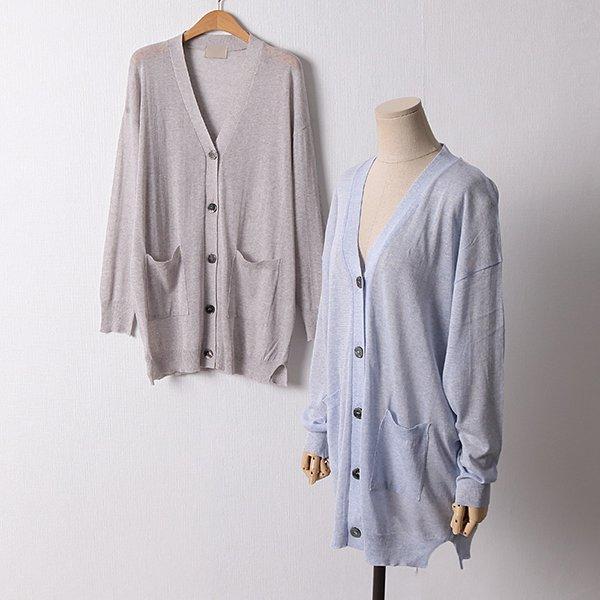 106 썸머Y넥포켓롱가디건 DRMD602 도매 배송대행 미시옷 임부복