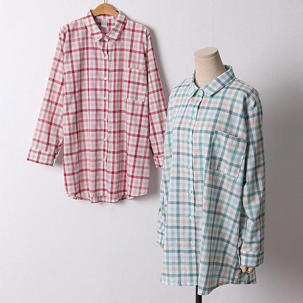 106 어니언체크루즈핏남방 DCRD611 도매 배송대행 미시옷 임부복