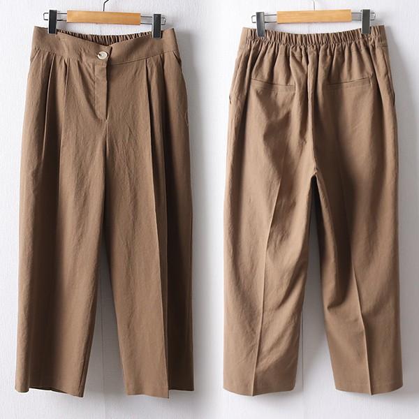 106 스콘린넨와이드롱팬츠 DPED619 도매 배송대행 미시옷 임부복