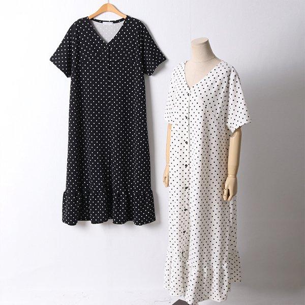 106 잔도트셔링일자원피스 DBED621 도매 배송대행 미시옷 임부복