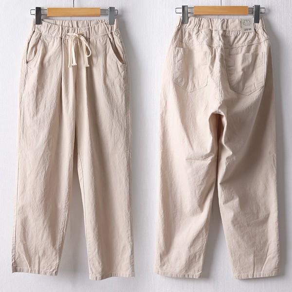 106 무지밴딩코튼배기팬츠 DMDD626 도매 배송대행 미시옷 임부복