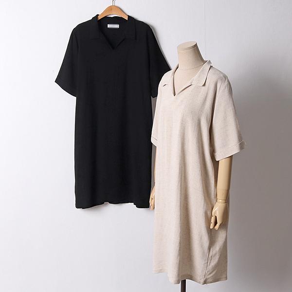 106 아몬드린넨카라원피스 DBED648 도매 배송대행 미시옷 임부복