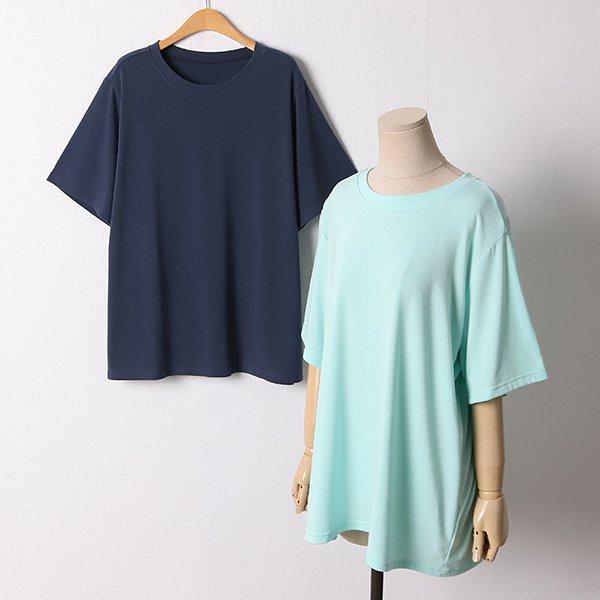 106 무지일자핏라운드반팔 DEBD650 도매 배송대행 미시옷 임부복