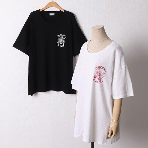 106 피자올타임오버핏반팔 DMOD659 도매 배송대행 미시옷 임부복