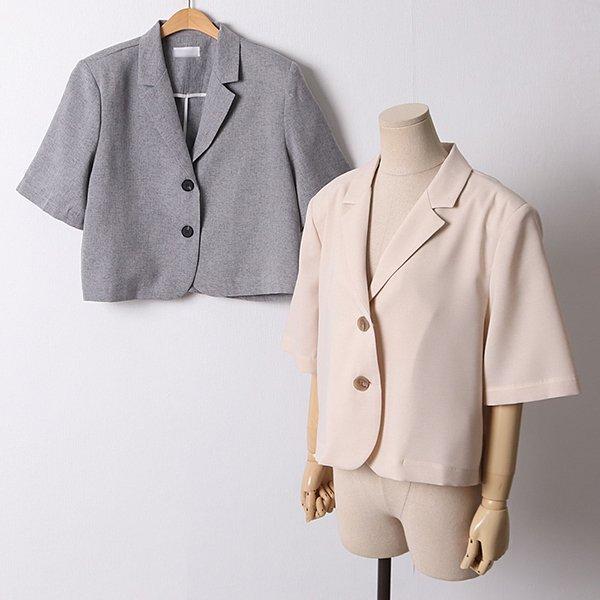106 큐티어깨패드크롭자켓 DDLD703 도매 배송대행 미시옷 임부복