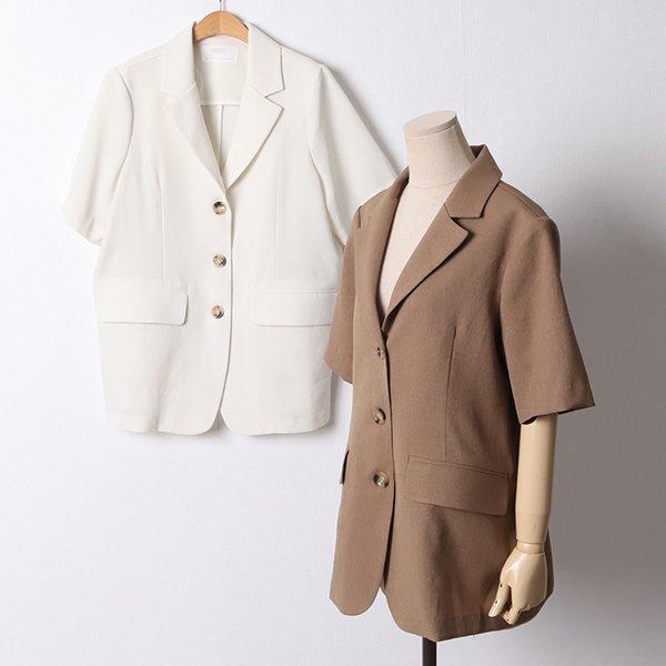107 스콘핀턱린넨반팔자켓 DPED749 도매 배송대행 미시옷 임부복