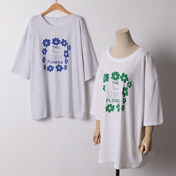 107 심플리코튼8부티셔츠 DRAD811 도매 배송대행 미시옷 임부복