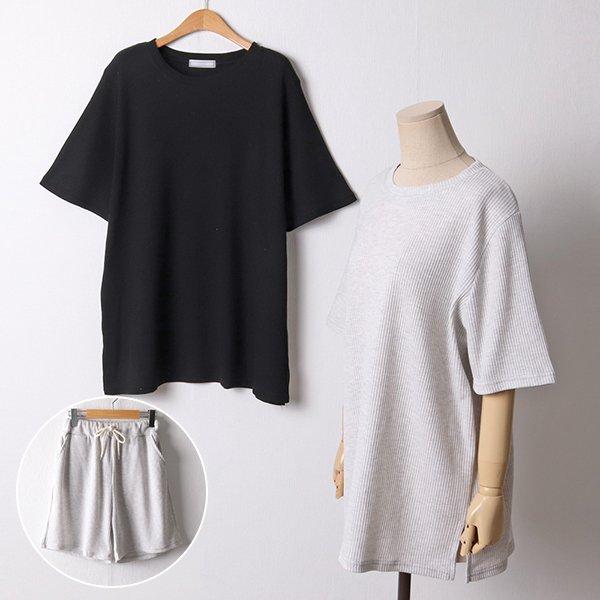 107 와사삭오버핏와플세트 DBED862 도매 배송대행 미시옷 임부복