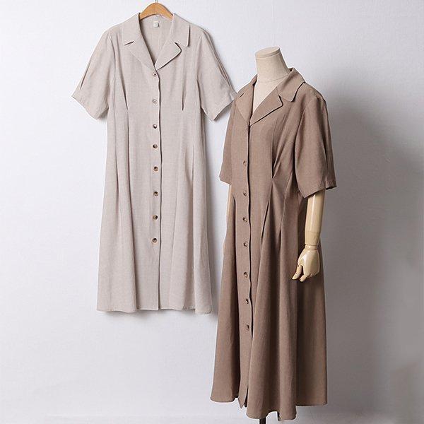 107 릴리즈린넨버튼원피스 DPED872 도매 배송대행 미시옷 임부복