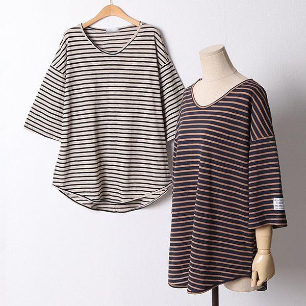 107 오버핏단브이넥티셔츠 DRID906 도매 배송대행 미시옷 임부복