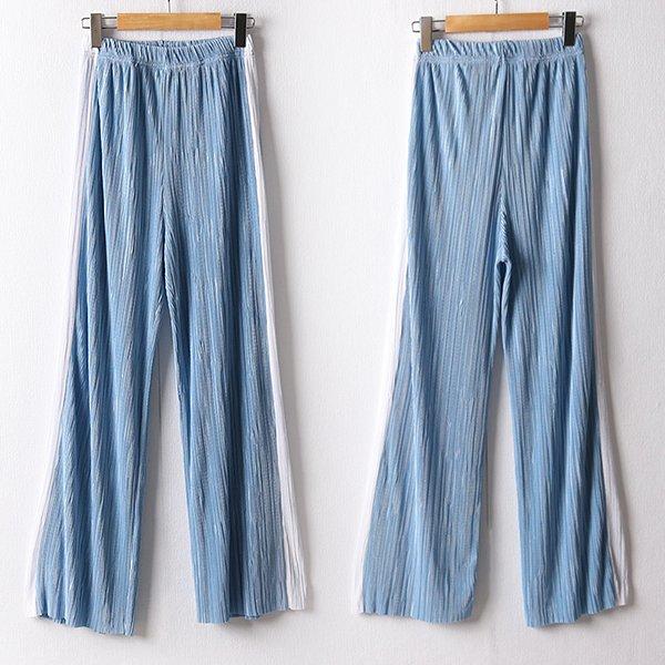 107 배색롱플리츠밴딩팬츠 DDDD916 도매 배송대행 미시옷 임부복