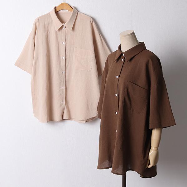 107 오버핏원포켓반팔남방 DPED941 도매 배송대행 미시옷 임부복