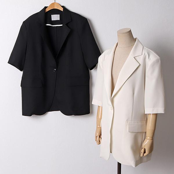107 원버튼베이직썸머자켓 DLTD947 도매 배송대행 미시옷 임부복