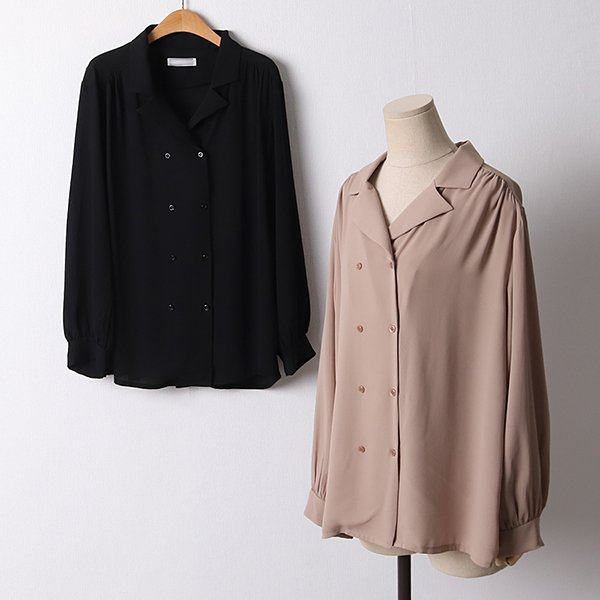 109 심플버튼셔링블라우스 DLTF162 도매 배송대행 미시옷 임부복