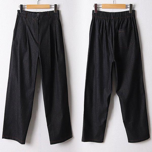 109 뒷밴딩롱블랙데님팬츠 DNNF173 도매 배송대행 미시옷 임부복