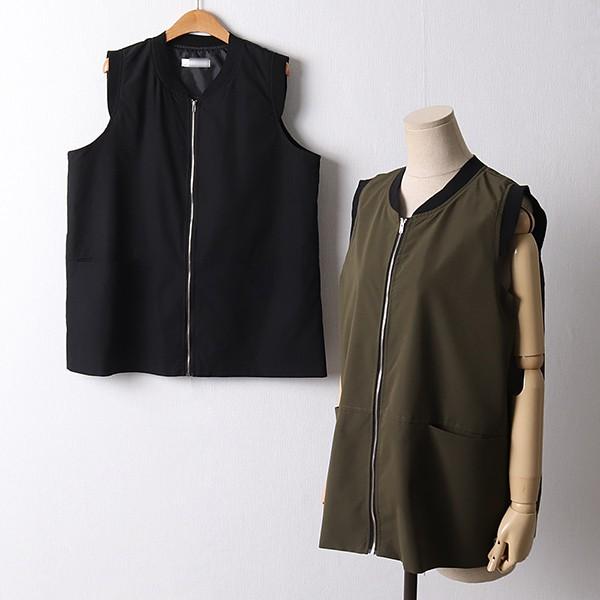 109 루즈핏일자시보리조끼 DIRF178 도매 배송대행 미시옷 임부복