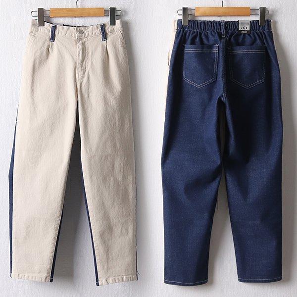 109 투톤배색밴딩배기팬츠 DLOF186 도매 배송대행 미시옷 임부복