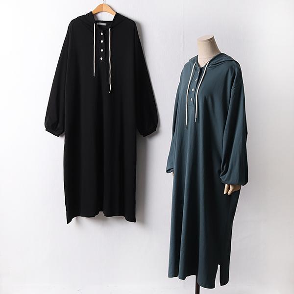 109 퍼프소매롱후드원피스 DLYF308 도매 배송대행 미시옷 임부복