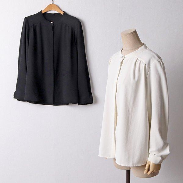 109 심플진주스판블라우스 DBGF346 도매 배송대행 미시옷 임부복