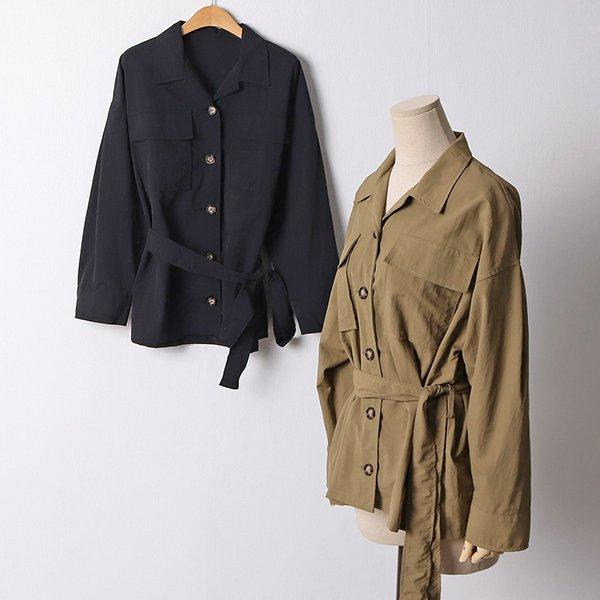 110 심플스트링롱야상자켓 DGYF406 도매 배송대행 미시옷 임부복